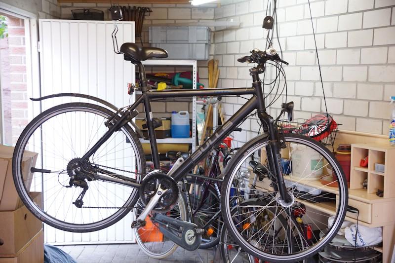 fahrradlift test fahrrad flaschenzug. Black Bedroom Furniture Sets. Home Design Ideas