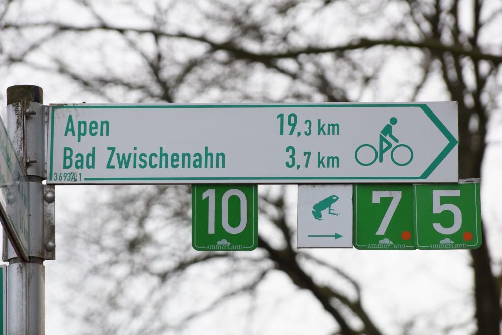 Radverkehrsnetz Schild Ammerland
