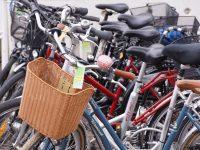 Fahrräder in einer Reihe
